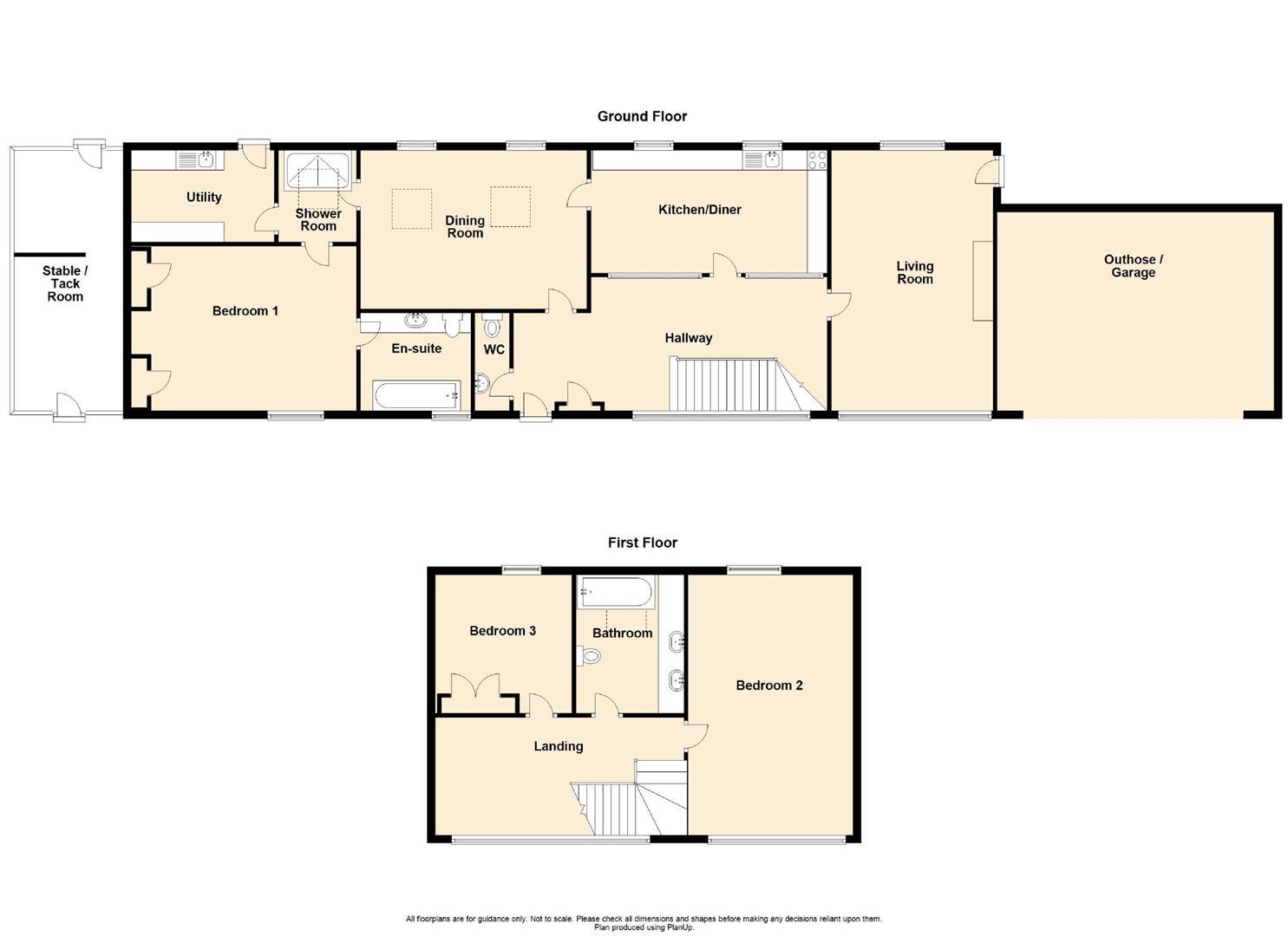 3 Bedroom Barn Conversion For Sale - Floorplan 1